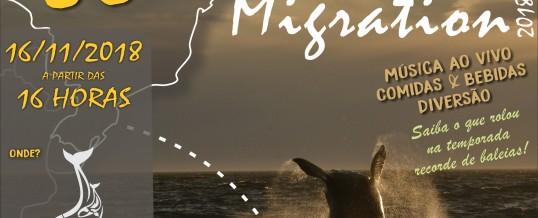 SUNSET MIGRATION – 16/nov – venha celebrar conosco o final desta temporada recorde de baleias!!