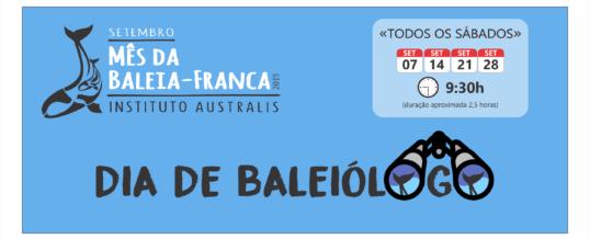 """""""Dia de Baleiólogo"""" é programação especial do Mês da Baleia"""