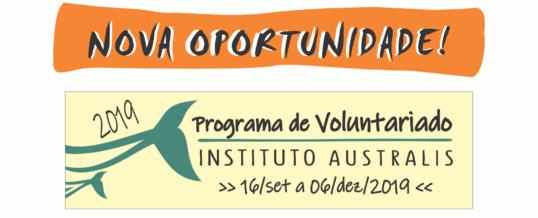Nova seleção programa de Voluntariado!